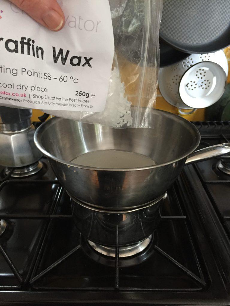 Double boiler wax melting machine