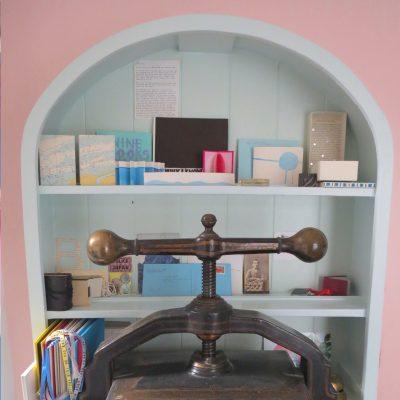 Mini Library & Book Press