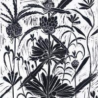 Block printed wallpaper | Louise Altman