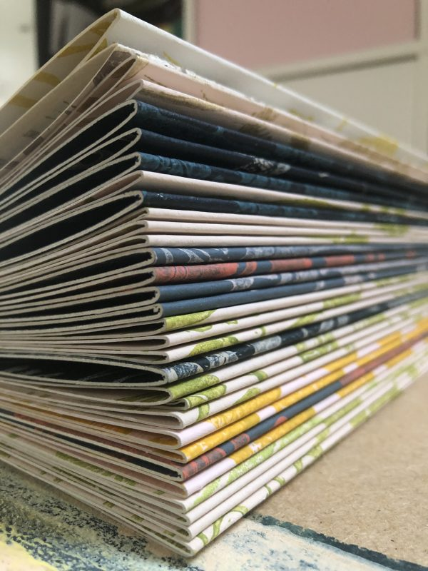 Hand printed wallpaper sample books - hand made