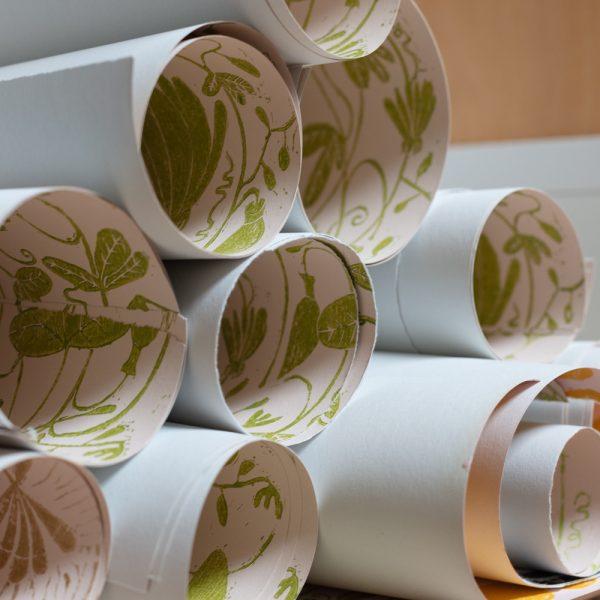 hand printed wallpaper