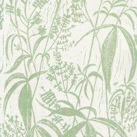 Hand printed wallpaper for sale - lemon verbena design