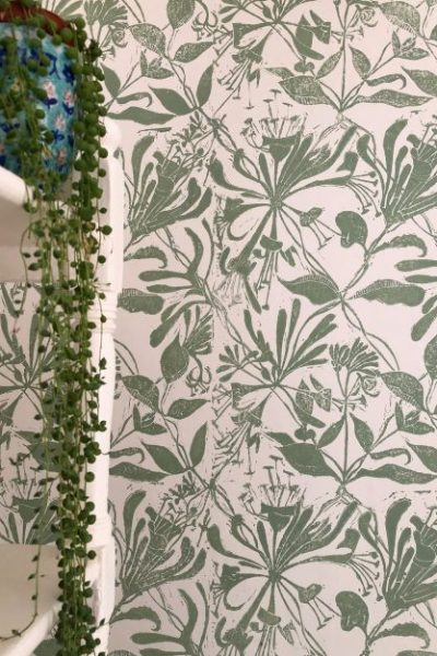 Hand block printed wallpaper for sale. Order now.